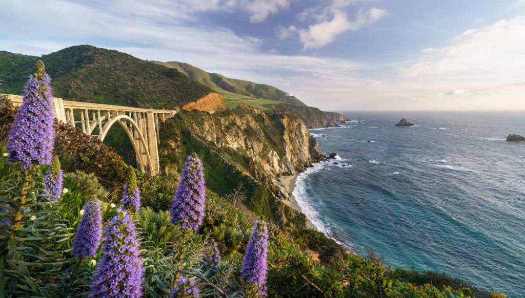 A view of Big Sur in California