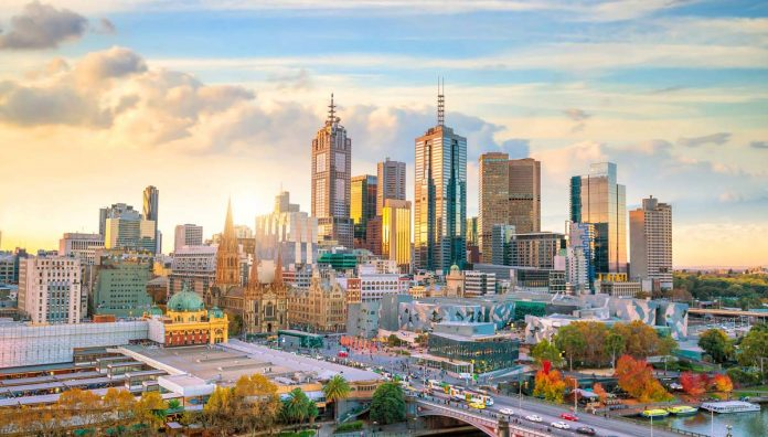 A view of the skyline of Melbourne Australia
