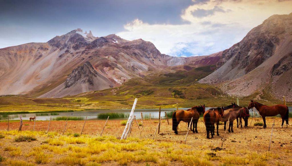 Andes near Las Lenas Mendoza Argentina