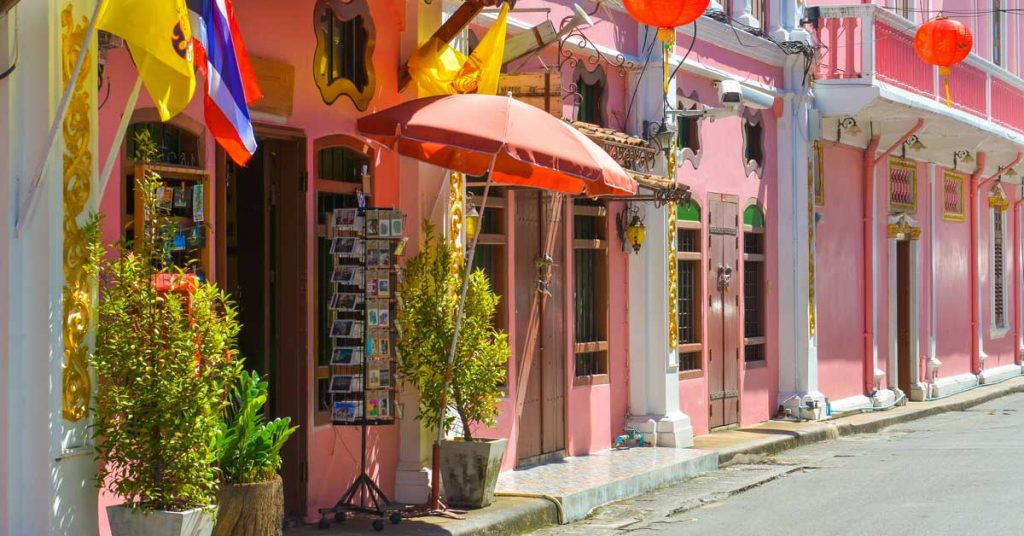 Old Town in Phuket Thailand